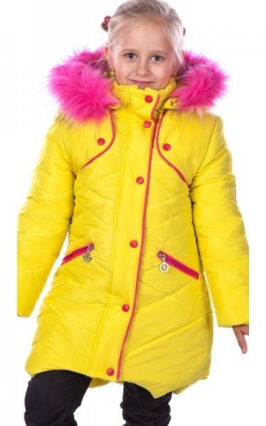 12010 Зимняя куртка ФЛАВИЯ д/дев.(желтый)