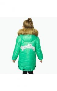 Фото Верхняя одежда (зима) 12012 Зимняя куртка ФЛОРА д/дев.(мятный)