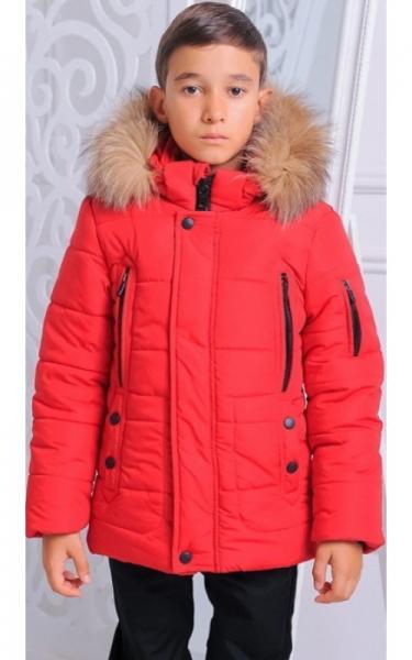 12198 Куртка АРНОЛЬД зимняя д/мал(красный)