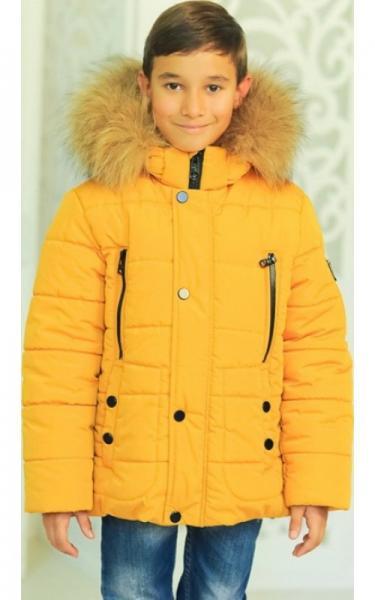 12200 Куртка АРНОЛЬД зимняя д/мал(горчица)