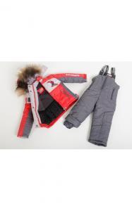 Фото Верхняя одежда (зима) 19-09 Комплект зимний РОСТИК д/мальч.(красный+серый)
