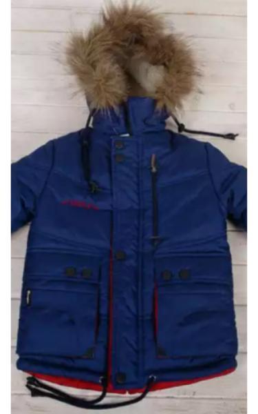 34010 Куртка зимняя д/мальч.СТАС (синий+красный)