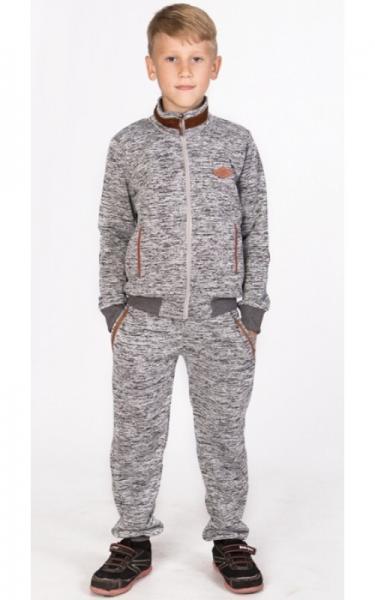 УК09 Спорт. костюм утепленный (св.серый)