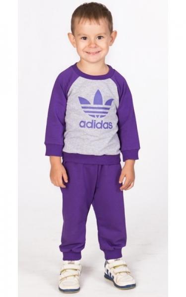 ЛК007-1 Спорт.костюм унисекс без капюшона(фиолетовый)