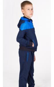 Фото Спортивная одежда ЛК0091 Костюм спортивный д/мал.(т.синий+электрик)