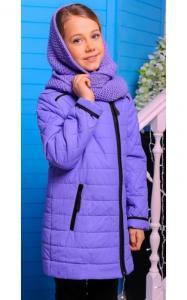 Фото Верхняя одежда (весна-осень) 0047 Куртка Ульяна демисезонная с хомутом (лаванда)