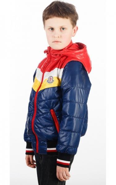 0048-1 Жилет-куртка ТИМУР демисезонная (т.синий+красный)