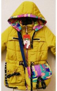 Фото Верхняя одежда (весна-осень) 0037-2 Парка ВАРЯ +сумка в подарок (горчица)