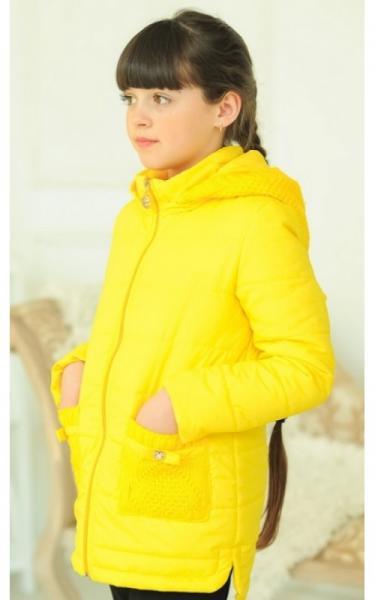 31-07 Куртка АЛЕКСА демисезонная д/дев (желтый)