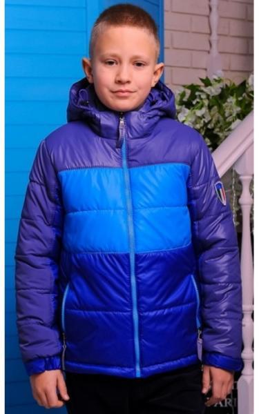 0104 Куртка  МИХАИЛ демисезонная д/мальч (электрик+голубой+синий)