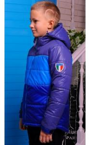 Фото Верхняя одежда (весна-осень) 0104 Куртка  МИХАИЛ демисезонная д/мальч (электрик+голубой+синий)