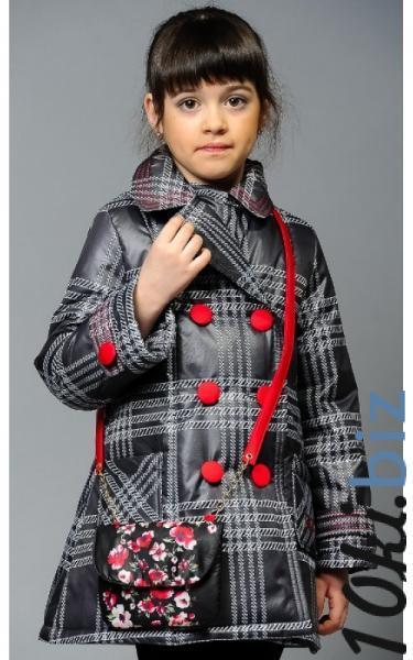 0285 Пальто ЕВА с сумочкой (клетка) купить в Ростове - Пальто для девочек