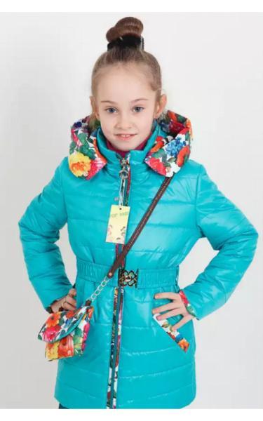 3024 Куртка Алевтина +сумка в подарок (бирюза)