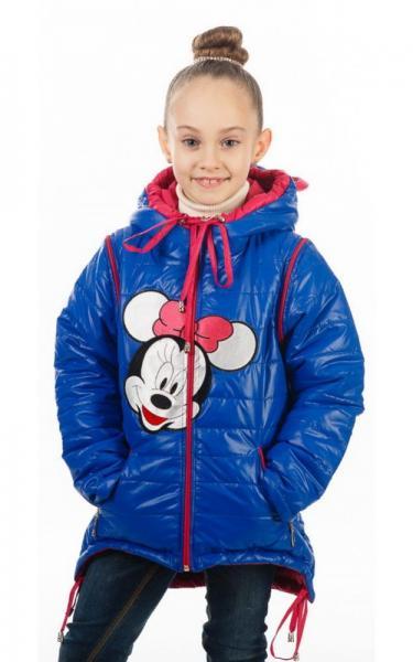 140039 Куртка-жилет МАКСИ БАНТ деми д/дев.(т.синий+красный)