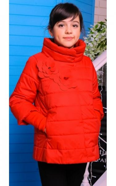 30-039 Куртка ЛАЙМА демисезонная д/дев (красный)