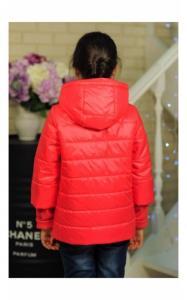 Фото Верхняя одежда (весна-осень) 30-039 Куртка ЛАЙМА демисезонная д/дев (красный)