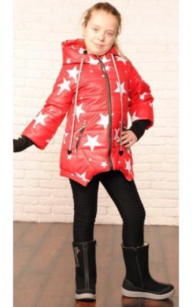 2508 Куртка  ДАНА деми д/дев (красный)