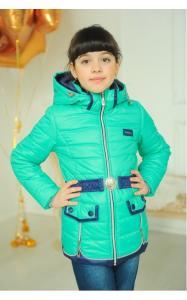 Фото Верхняя одежда (весна-осень) 3008 Куртка АНЖЕЛА демисезонная д/дев (бирюза)