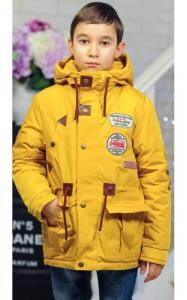 Фото Верхняя одежда (весна-осень) 20011 Парка ОЛЕЖКА демисезонная (горчица)