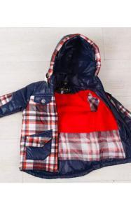 Фото Верхняя одежда (весна-осень) 027002 Куртка деми д/мальч Валера (красная клетка)