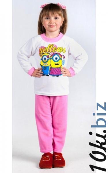 53020 Пижама флисовая д/дев (розовый+белый) Пижамы детские для девочек на рынке Атлант в Ростове на Дону