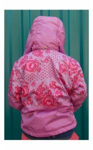 Фото Верхняя одежда (весна-осень) 94107 Куртка-ветровка БРУНО (сирень+розы)
