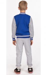 Фото Спортивная одежда УБ11 Бомбер утепленный (электрик+св.серый)
