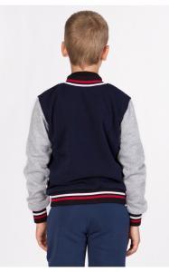 Фото Спортивная одежда УБ10 Бомбер утепленный (т.синий+серый)