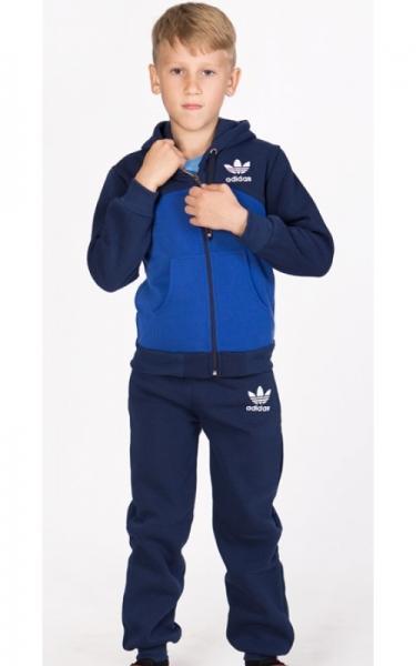 УК17 Спорт.костюм утепленный (т.синий+электрик)