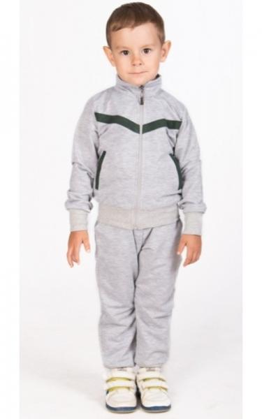 СК14 Спорт. костюм (св.серый+зеленый)