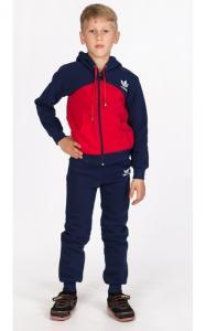 Фото Спортивная одежда УК16 Спорт.костюм утепленный (т.синий+красный)