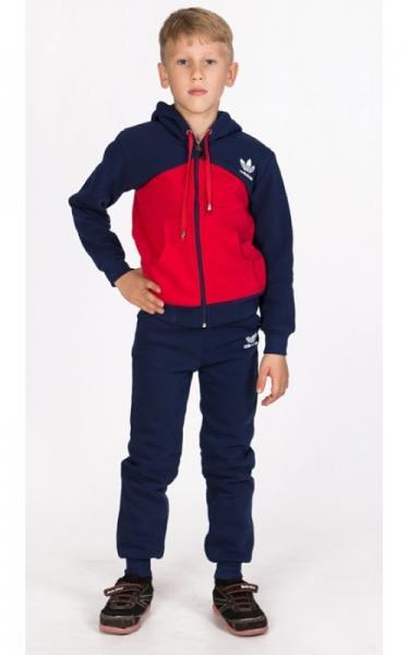 УК16 Спорт.костюм утепленный (т.синий+красный)