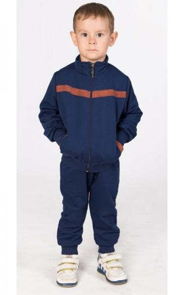 СК12 Спорт. костюм (т.синий+коричневый)