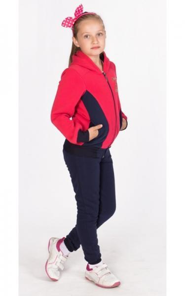 УК21 Спорт. костюм утепленный д/дев (коралл+т.синий)