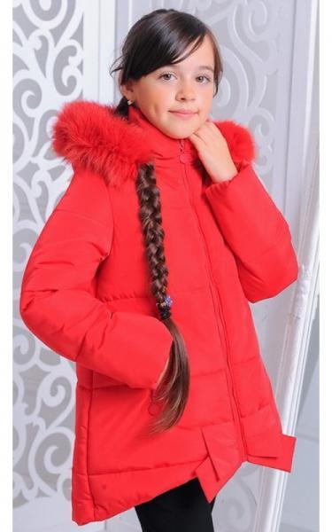 12145 Куртка ДЖИНА зима д/дев(красный)