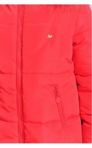 Фото Верхняя одежда (зима) 12145 Куртка ДЖИНА зима д/дев(красный)