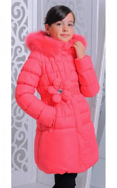 12230 Куртка ЮЛЯ зима д/дев(коралл)