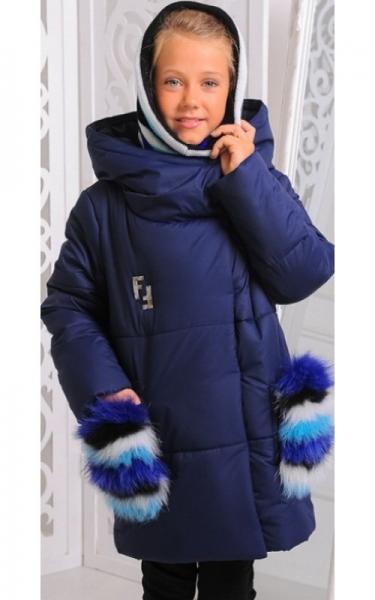 12189 Куртка ФЕЛИСИЯ зима д/дев(синий)