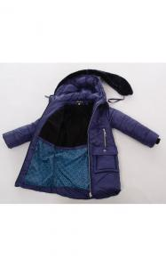 Фото Верхняя одежда (зима) 02118 Пальто(зима) МУНА д/дев (т.синий)