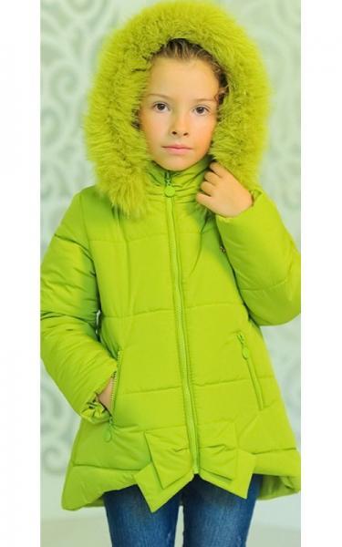12153 Куртка ДЖИНА зима д/дев(лайм)