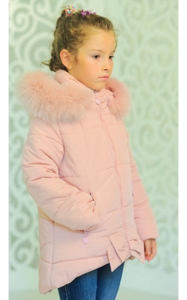 12146 Куртка ДЖИНА зима д/дев(розовый)