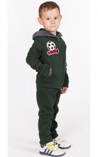 УК18 Спорт. костюм утепленный, унисекс (зеленый)