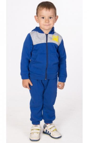 УК20 Спорт. костюм утепленный (синий+св.серый)
