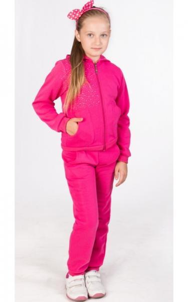 УК11 Спорт. костюм утепленный д/дев (розовый)