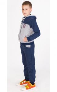 Фото Спортивная одежда УК06 Спорт.костюм утепленный (т.синий+св.серый)