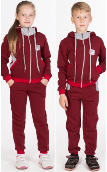 УК03 Спорт. костюм утепленный, унисекс (бордовый)