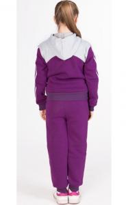 Фото Спортивная одежда УК01 Спорт.костюм утепленный, унисекс (фиолетовый+св.серый)
