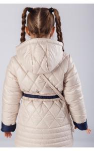 Фото Верхняя одежда (весна-осень) 1910 Куртка МАРУСЯ деми+сумка в подарок(беж)