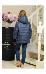 Фото Верхняя одежда (весна-осень) 30-038 Куртка ЛАЙМА демисезонная д/дев (голубой)