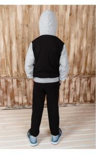 Фото Спортивная одежда 009-3 Костюм спортивный МИТЯ д/мал.(черный+серый)
